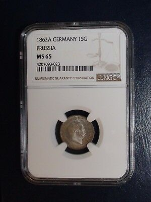1862A Germany SILVER GROSCHEN NGC MS65 GEM UNCIRCULATED 1SG Coin PRICED TO SELL