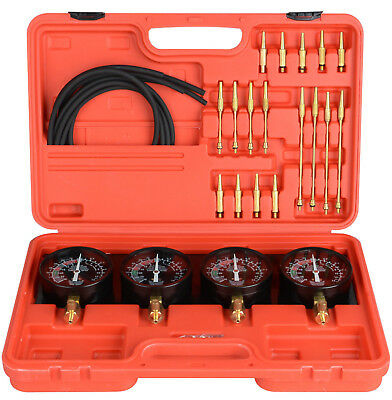 Fuel Vacuum Carburetor Synchronizer carb sync Gauge Professional Kit Rubber Hose