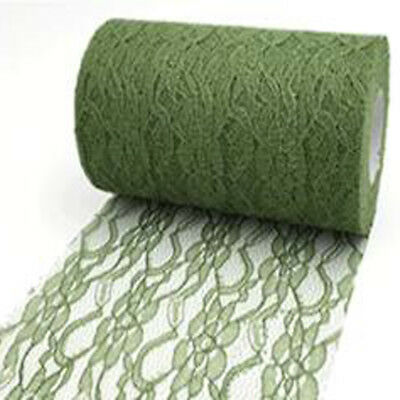 LACE NET on ROLL Wedding Chair Tie Sash Floral Venue Table Baloon Net Green 25YD