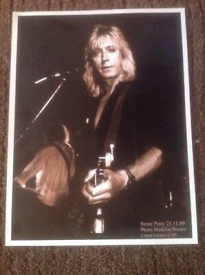 Mick Ronson Ltd Edition Of 500 8x10 Photo Thick Card