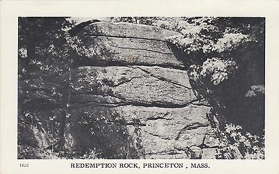 Redemption Rock, Princeton, Mass. Townview Card Co. Portland, Maine. Circa 1920