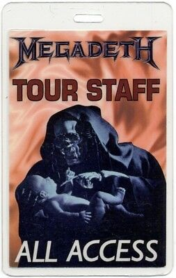 Megadeth authentic 1994 concert Laminated Backstage Pass Youthanasia Tour AA