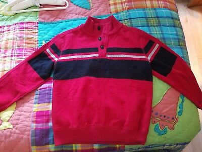 Boys Chaps Sweater/fleece, size 7, red and black
