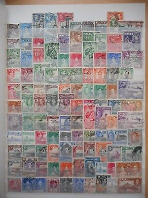 British Commonwealth George VI 100  used stamps