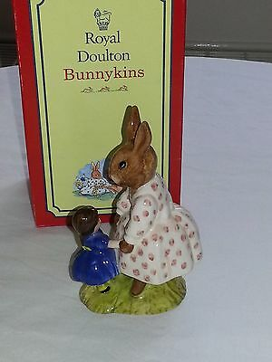 Royal Doulton Dollie Bunnykins Playtime DB8 Perfect Condition with Box