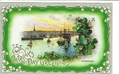 Waterford St Patricks Day Greetings Publisher Wildt & Kray 1900's