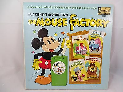 Disney Record Walt Disney's Stories from the Mouse Factory LP #3808 Mickey Mouse
