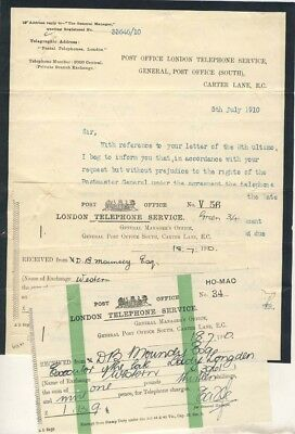 London Telephone Service 1910 - Documents