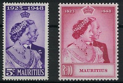 Mauritius, 1948 Royal Silver Wedding Set, U/m.