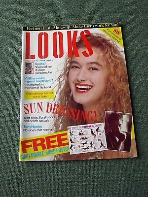 1989 'Looks' Magazine inc. Rob Lowe Poster, remember the '80s?