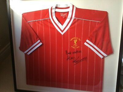 Alan Kennedy Signed Liverpool Football Jersey European Cup 1984 v Rome Framed