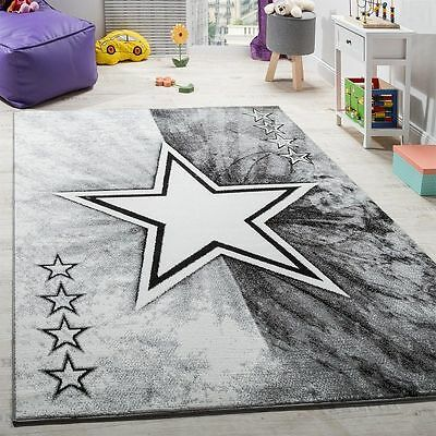 New Modern Rug Living Area Rugs Grey Star Pattern Floor Mats Carpets Small Large