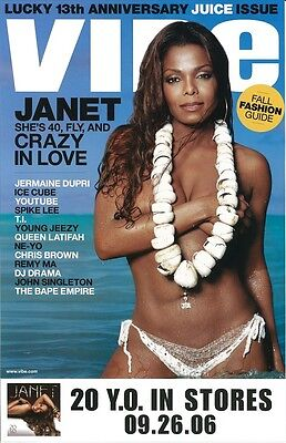 JANET JACKSON poster  - 20 Y.O. - promo poster - 11 x 17 inches
