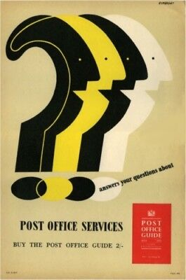 1950's GPO Poster P.R.D.676 - POST OFFICE SERVICES - Tom Eckersley