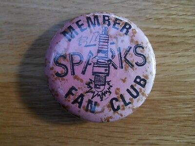 Sparks Old Fan Club Members Badge Late 70's
