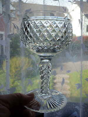 Stuart Crystal Hand Cut Wine Goblet Glass With Airtwist /Air Twist Baluster Stem