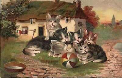 HOFFMANN'S No.1 RICE STARCH ( KITTEN'S AT PLAY )( DATED 27TH MARCH 1907 @ HULL )