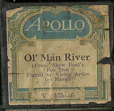 Ol' Man River, played by Victor Arden, Apollo V 4575-5 Piano Roll Original