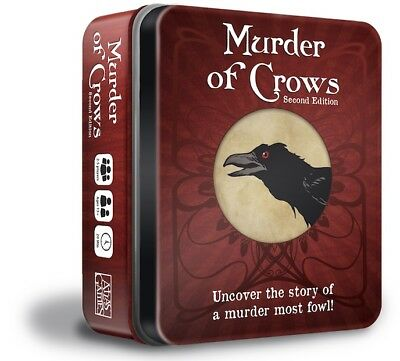 Murder Of Crows 2nd Edition Card Game Tin Box Atlas Games ATG 1342 Family Word