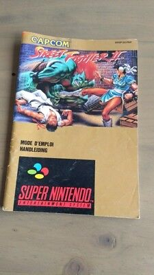 Snes Streetfighter II manual English/German/French