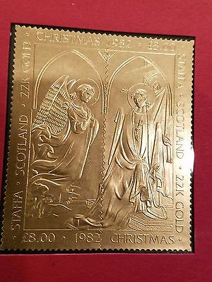 22kt Gold Staffa Scotland Christmas 1982 THE ANNUNCIATION w Certificate Of Auth
