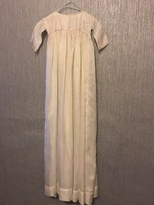 Antique Hand Made Silk Or Satin  Christening Gown