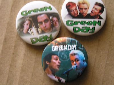 Green Day Badges , Punk X 3 Make Every Day A Green Day