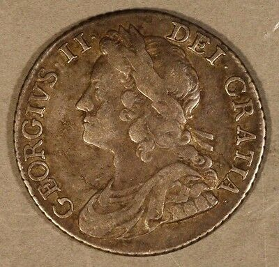 1741 Great Britain Shilling George II Silver Nice Details ** FREE US SHIPPING **