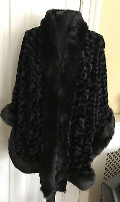 Black Velvet Cape/coat With Sleeves One Size Fits All