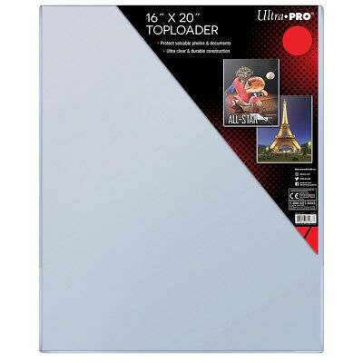 "Large 16"" x 20"" CLEAR TOPLOADER Photo Poster Sheet Storage UltraPro NEW 16x20"