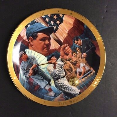 Babe Ruth Royal Doulton The Legendary Babe Ruth Plate Sulton Of Swat Franklin