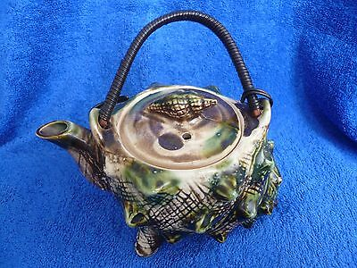 Decorative 'Shell-shaped' Teapot - attractive vintage item...