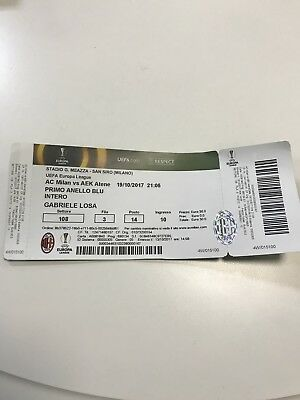 Ticket UEFA Europa League 2017 AC Milan vs AEK Athen EL Top
