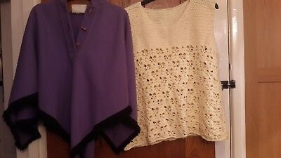 vintage  tops 12  jumpers,poncho, sleeveless tops  50s n  60 s