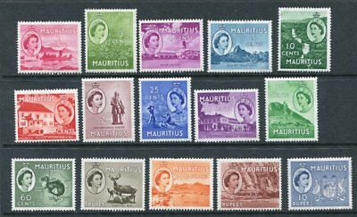 MAURITIUS 1953 QEII Definitives MNH Set to 10R 15 Stamps