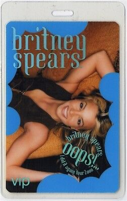 Britney Spears authentic 2000 Laminated Backstage Pass Oops I Did it Again Tour
