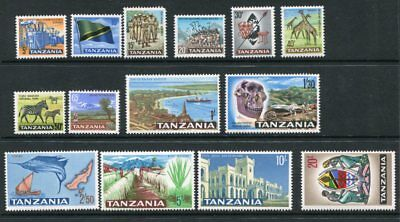TANZANIA 1965 Definitives MNH MH (5c0 Set to 20 Shillings 14 Stamps
