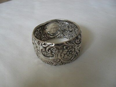 Antique solid silver napkin ring hallmarked Birmingham 1904