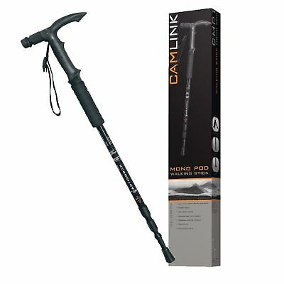 Camlink CMP1 Collapsible Monopod Walking Stick + Anti-Shock System + Compass