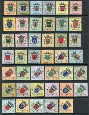 ANGOLA 1963 COATS of ARMS MNH set to 50e 41 Stamps