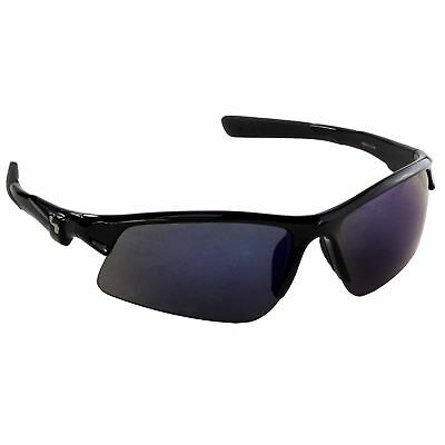 Sundog Zone Sunglasses Shiny Black/Smoke Light Blue