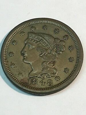 1848 Large Cent Full Liberty You Grade Nice Coin