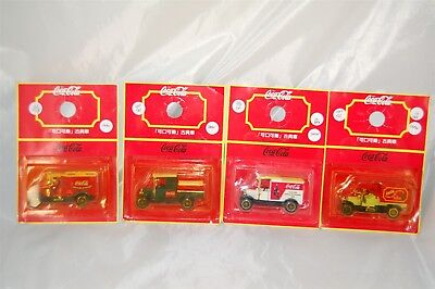 Coca Cola Coke Set of 4 Delivery Trucks Japanese New on Card