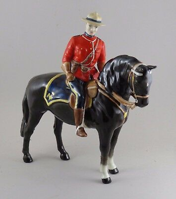 Beswick Horse Canadian Mountie # 1375 Damaged Mounted Police