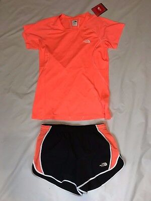 The North Face Women's MEDIUM Voltage Tee and GTD Shorts COMBO - NWT