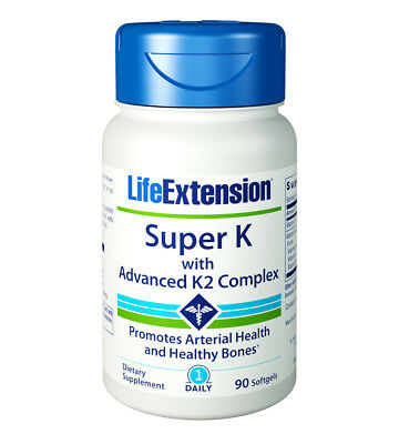Life Extension Super K with Advanced K2 Complex Heart & Bone Support 90 Softgels