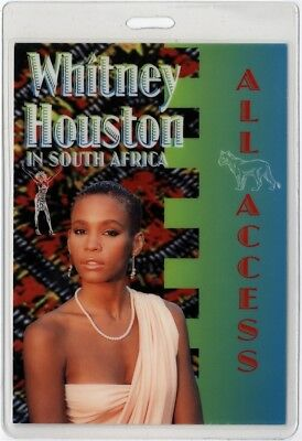 Whitney Houston authentic 1995 concert Laminate Backstage Pass South Africa Tour