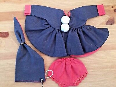 GINNY MUFFIE Vogue Original Clothing - Navy Winter Dress Bloomers Hat TAGGED