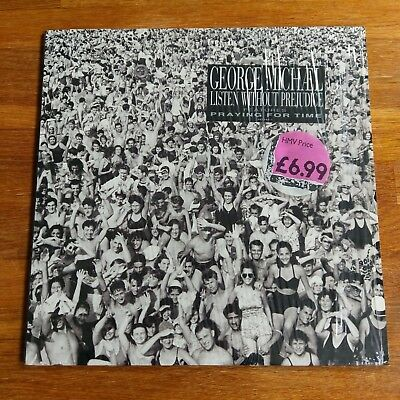George Michael Listen Without Prejudice 1990 1st UK Press A1 B1 Shrink + Insert