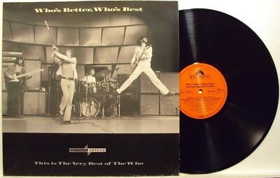 THE WHO-WHO'S BETTER, WHO'S BEST-RARE LP 33 g. 1988
